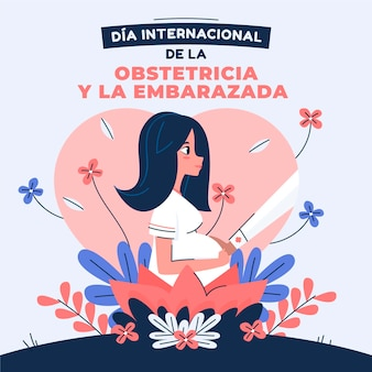 Dia internacional de la położnictwo y la embarazada illustration