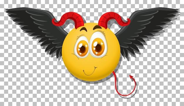 Diabeł Emotikon Z Wyrazem Twarzy Darmowych Wektorów