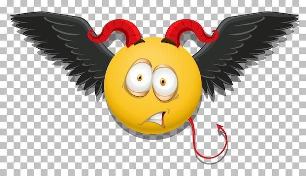 Diabeł emotikon z wyrazem twarzy