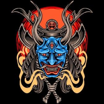 Diabeł samuraj japonia