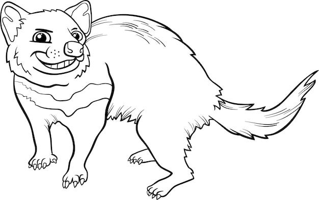 Diabeł tasmański kreskówka kolorowanki