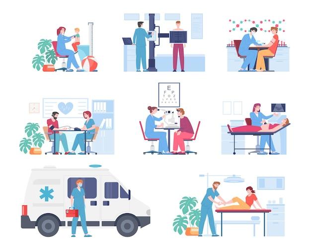 Diagnostyka medyczna piękna ilustracja