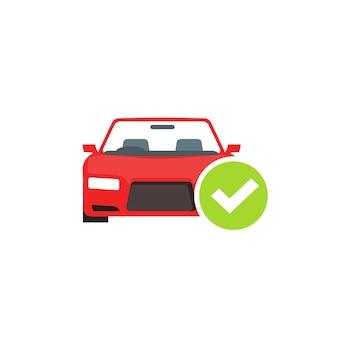 Diagnostyka testu samochodowego przeszła ikona znacznika wyboru