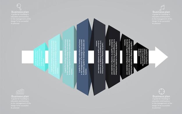 Diagram biznesu i edukaci wektoru ilustracja.