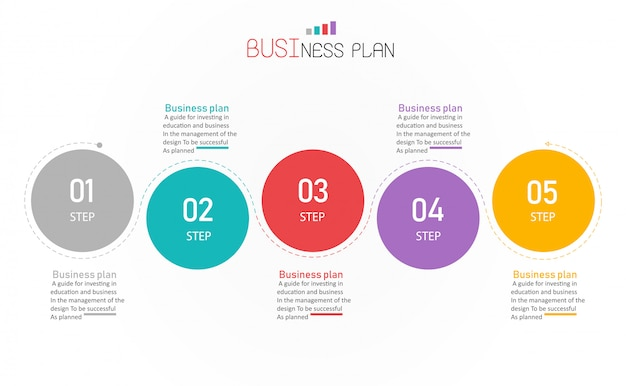 Diagram biznesu i edukacji ilustracji wektorowych