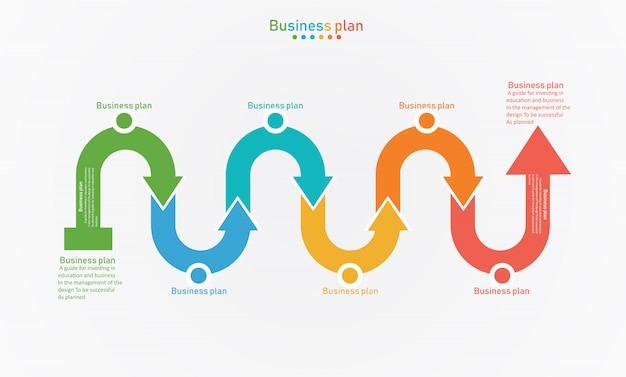 Diagram droga biznesu i edukacji wektorowych ilustracji