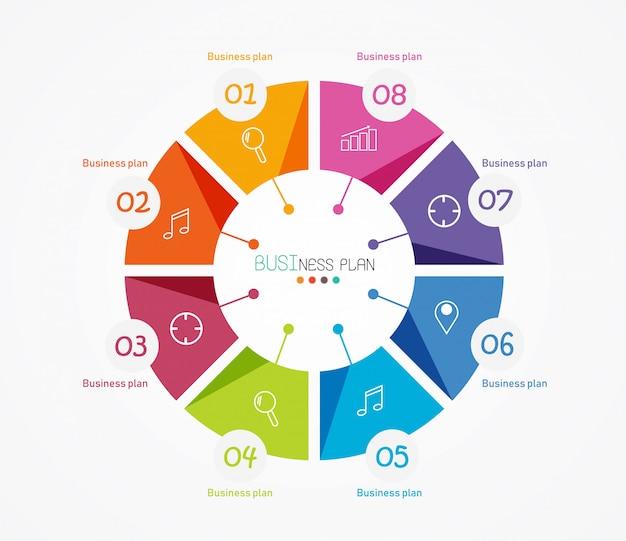 Diagram stosowany w edukacji i ilustracji wektorowych projektowania