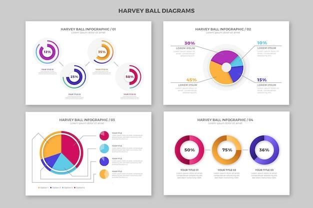Diagramy piłka gradientu harvey - plansza