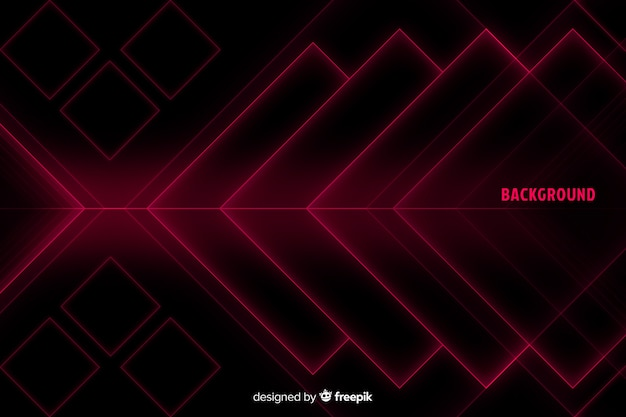 Diamentowe kształty w czerwonym odcieniu tła