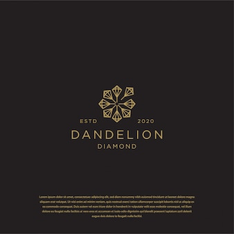 Diamentowe logo dandelion premium