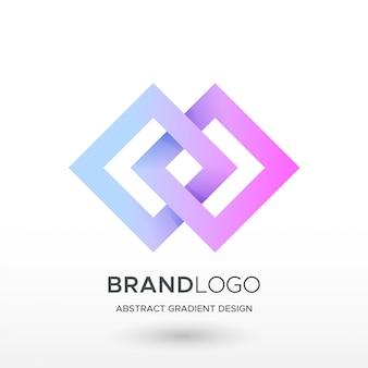 Diamentowe logo gradientu