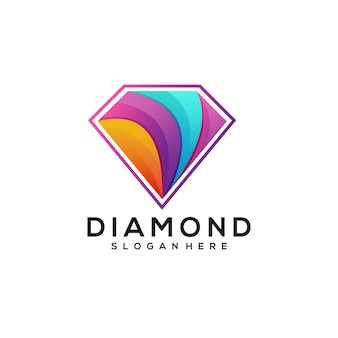 Diamentowe logo kolorowe gradientowe
