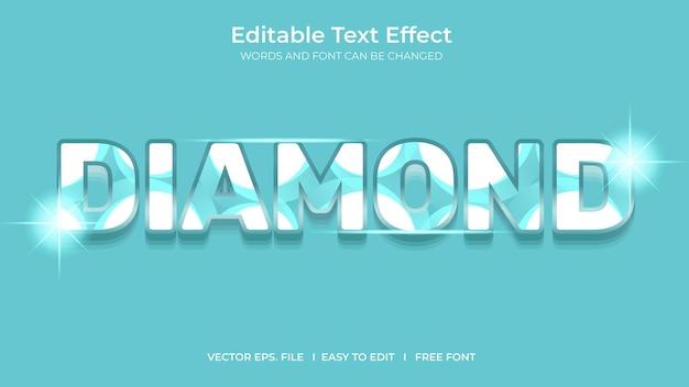 Diamentowy projekt szablonu edytowalnego efektu tekstowego ilustratora