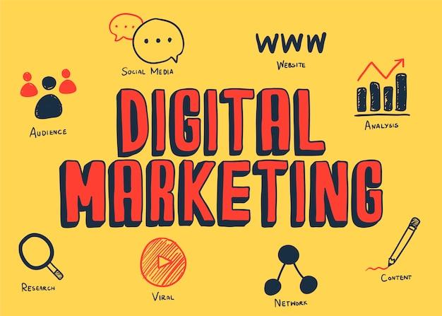 Digital marketing ilustracji