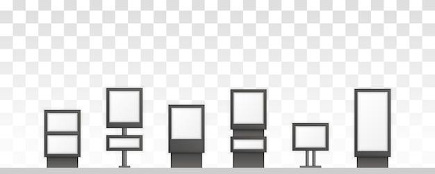 Digital signage odizolowywający na białym tle. do reklamy. szyld prostokątny lightage signboard.