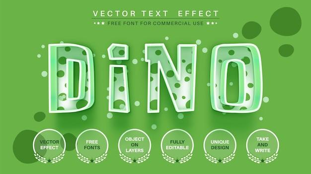 Dino edytuj edytowalny styl czcionki z efektem tekstowym