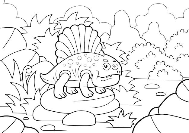 Dinozaur dimetrodon