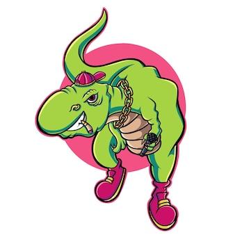 Dinozaur hip hop cartoon
