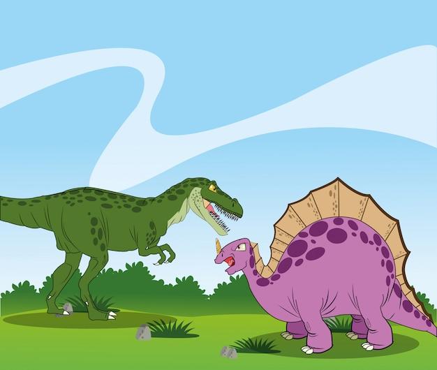 Dinozaur ikona designu, ilustracji wektorowych