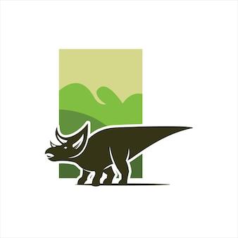 Dinozaur ilustracja sztuka triceratops wektor projekt prehistoryczny jurajski element graficzny zwierząt