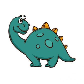 Dinozaur kreskówka ładny potwór