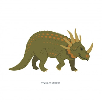 Dinozaur styracosaurus.