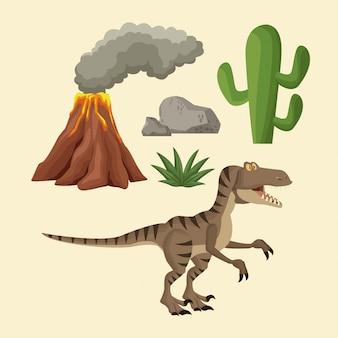 Dinozaury elementy kreskówka