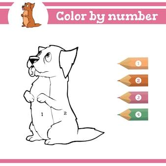 Dinozaury kolorowanie według numerów kolorowanka dla dzieci w wieku przedszkolnym uczą się liczb dla przedszkoli