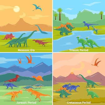 Dinozaury tło koncepcja projektu