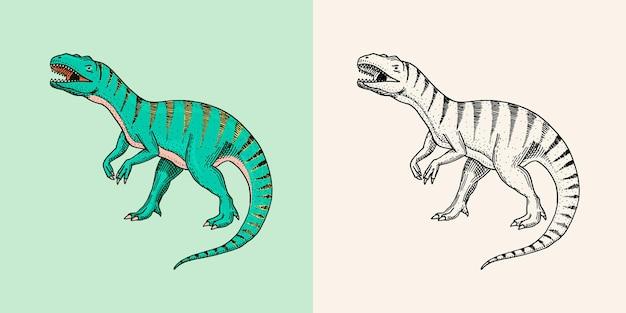 Dinozaury tyrannosaurus rex afrovenator megalosaurus tarbosaurus struthiomimus szkielety skamieniałości