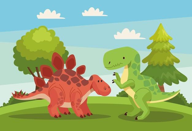 Dinozaury w krajobrazie