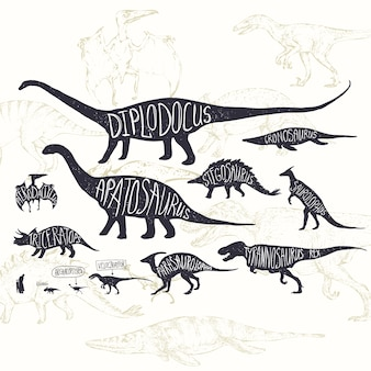 Dinozaury wzór tła