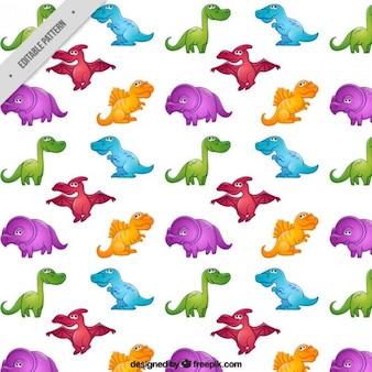 Dinozaury wzór