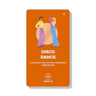 Disco dance party w stylu retro w klubie nocnym