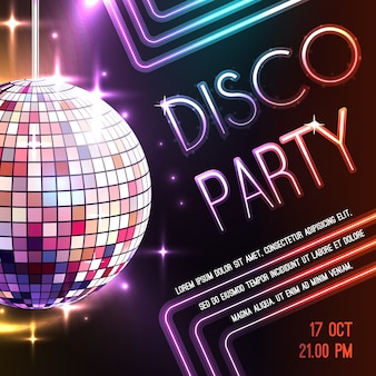 Disco party plakat