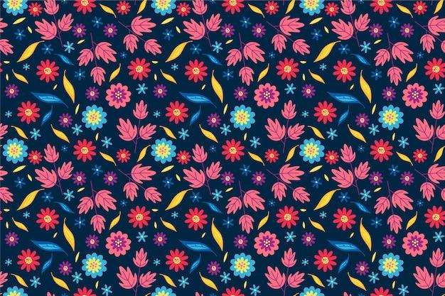 Ditsy kwiatowy wzór tła