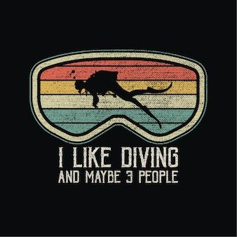 Diver sillhouete