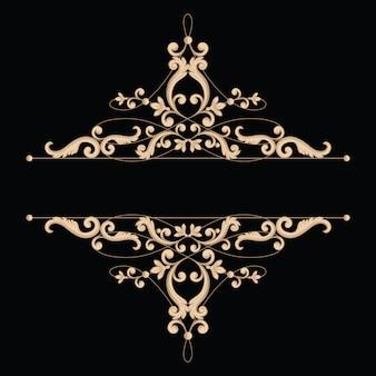 Divider lub rama w kaligraficznym retro stylu odizolowywającym