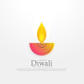 Diwali festiwal diya ilustracji wektorowych w kwiatowy projekt deocration