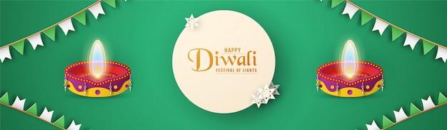 Diwali to festiwal świateł hinduskich na tle zaproszenia.