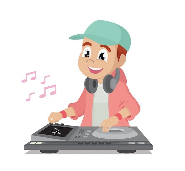 Dj gra rytm muzyki.