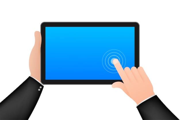 Dłoń ikona smartfona z ekranem dotykowym