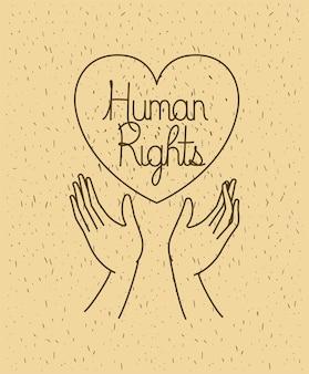 Dłoń z sercem praw człowieka