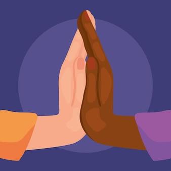 Dłonie dotykające się nawzajem