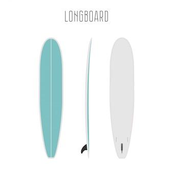 Długa deska surfingowa z trzech stron