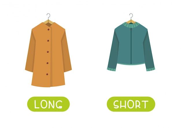 Długie i krótkie ubrania