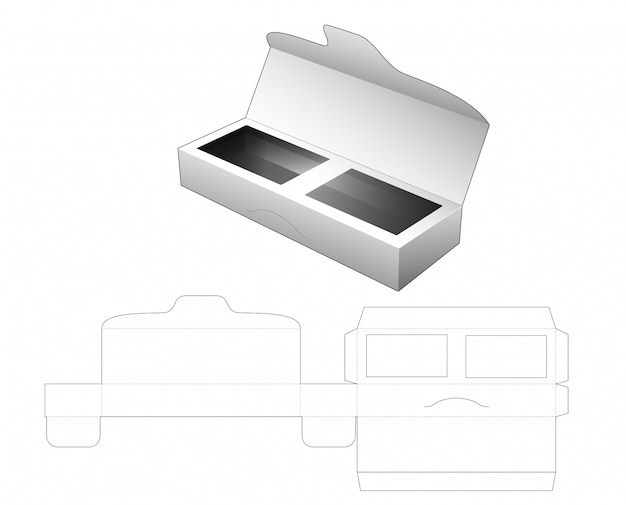 Długie pudełko z wykrojnikiem