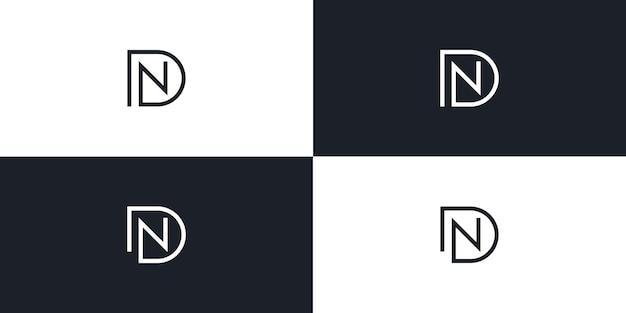 Dn nd list początkowe logo wektor ikona ilustracja