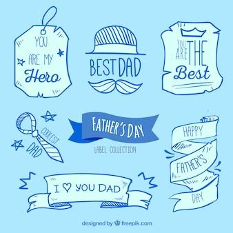 Dnia strony ojca rysowane etykiet