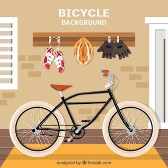 Dno na rowerze z wyposażeniem
